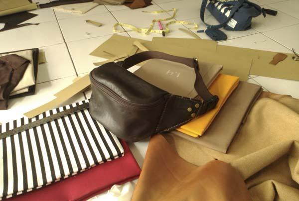 kursus membuat tas pinggang kulit